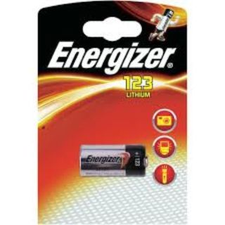 ENERGIZER BATTERY LITHIUM CR123 3V BL/1