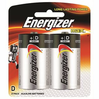 ENERGIZER MAX BATTERY D BL/2
