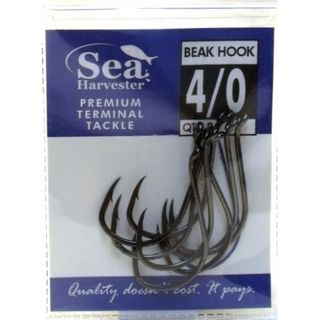 SEA HARVESTER BLACK BEAK HOOK 7/0 PACK/4