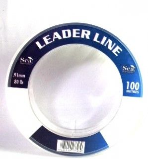 SEA HARVESTER LEADER LINE 100LB CLEAR 100M SPOOL EA