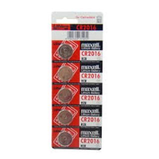 MAXELL COIN BATTERY LITHIUM CR2016 3V PACK/5