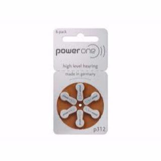 POWERONE HEARING AID BATTERIES RAY312 CARD/6