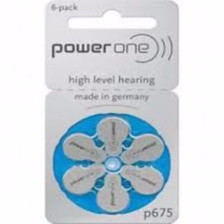 POWERONE HEARING AID BATTERY P675/4600 (RAY675) 1.45V PACK/6