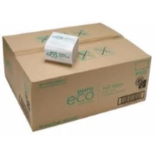 PAPER TOWEL PUREECO HALF WIPES WHITE 1PLY (EH200) BOX/8000