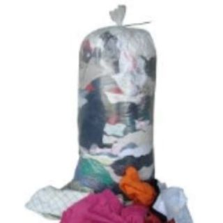 T SHIRT RAGS WASHED MULTI COLOURED 10KG EA