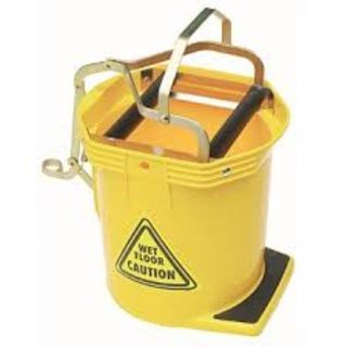 MOP WRINGER BUCKET WITH WHEELS (ASSORTED COLOURS) 16L EA