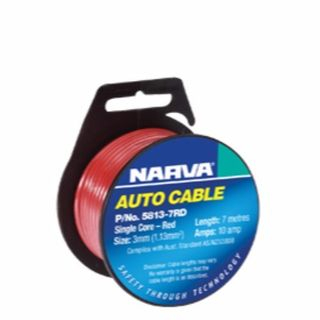 NARVA SINGLE CORE 3MM 19AMP 7M RED 5813-7RD