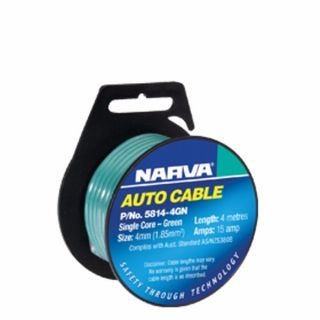 NARVA AUTO CABLE SINGLE CORE 4MM 15AMP 4M BLACK EA