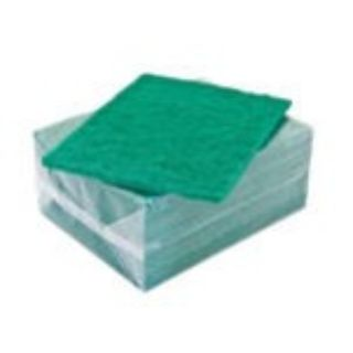 SCOURING PADS GREEN 200 X 145MM PACK/10