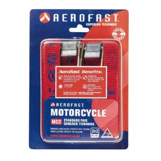 AEROFAST MOTORCYCLE CAMBUCKLE S-HOOK TIEDOWN 2M x 25MM 600KG EA