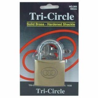 TRI CIRCLE PADLOCK 50MM EA
