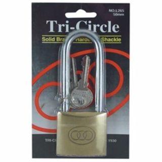 TRI CIRCLE PADLOCK LONGSHANK 50MM EA