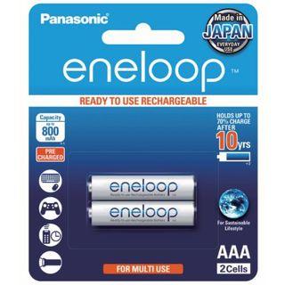 PANASONIC eneloop RECHARGEABLE BATTS AAA/2 Rechargeable
