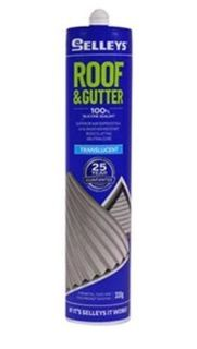 SELLEYS ROOF AND GUTTER SILICONE SEALANT TRANSLUCENT CARTRIDGE 310G EA