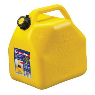 SCEPTER FUEL CAN YELLOW SQUAT 20LTR