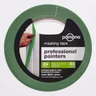 SELFSTICK MASKING TAPE PAINTERS GREEN 24MM X 50M EA