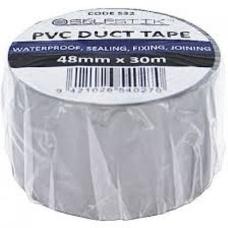 SELFSTICK PVC DUCT TAPE - SILVER 48MM X 32M