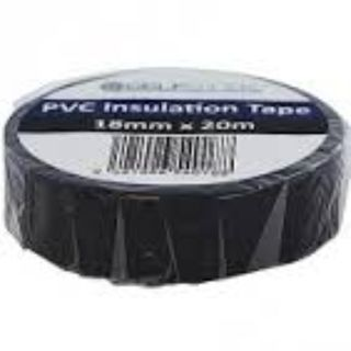SELFSTICK INSULATION TAPE BLACK 18MM X 20M