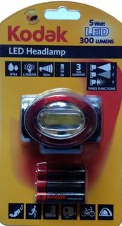 KODAK HEADLAMP LED 300 LUMENS AAA/3