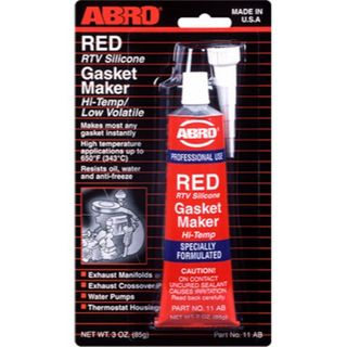 ABRO RTV SILICONE GASKET MAKER RED 85G BL/1