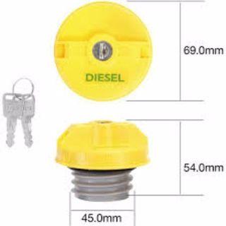 TRIDON FUEL CAP NON LOCKING PLASTIC SCREW YELLOW (TNL102D / TFNL234D) EA