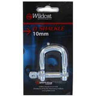 WILDCAT D SHACKLE 10MM BL/1