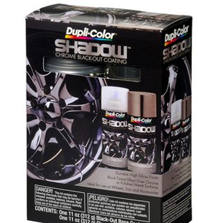 DUPLI-COLOR SHADOW CHROME BLACKOUT COATING KIT AEROSOLS EA