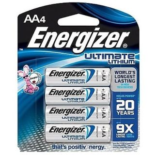 ENERGIZER BATTERY LITHIUM AA BL/4
