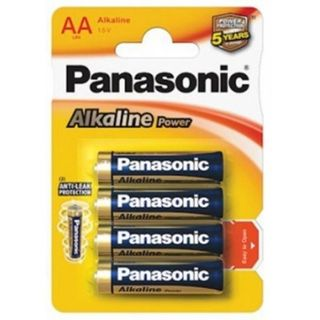 PANASONIC ALKALINE BATTERIES AA BL/4