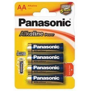 PANASONIC ALKALINE BATTERIES AA/4 - NEW BARCODE