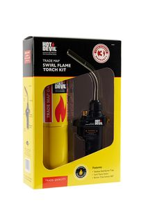 HOT DEVIL TRADE MAP GAS SWIRL FLAME TORCH KIT (BOXED) EA