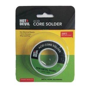 HOT DEVIL ACID CORE SOLDER (METAL WORK) 85GM BL/1
