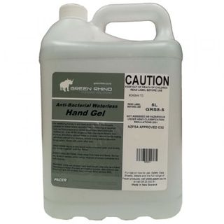 GREEN RHINO ANTIBACTERIAL HAND GEL(WATERLESS) (GRS8-5) 5L EA