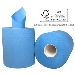 PAPER TOWEL CENTREFEED ROLL BLUE 1PLY 300M (VC300) BOX/6