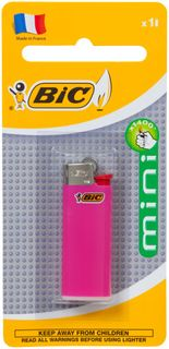 BIC LIGHTER MINI ASSORTED COLOURS BL/1