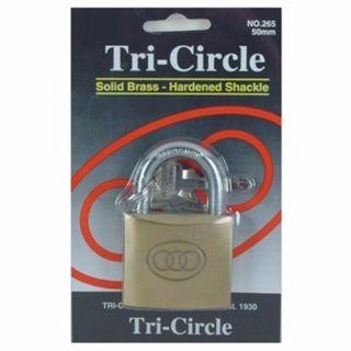 TRI CIRCLE PADLOCK 38MM EA