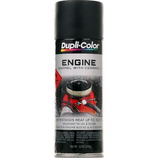 DUPLI-COLOR ENGINE PAINT ENAMEL BLACK GLOSS AEROSOL 340G EA