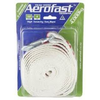 AEROFAST TOW STRAP HOOK AND LOOP 50MM X 4M 4000KG EA