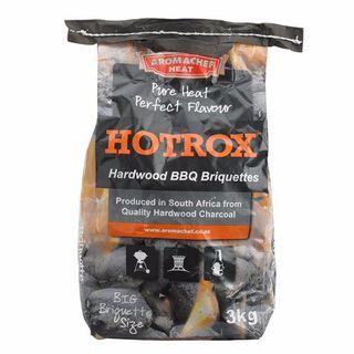 CHARCOAL AROMCHEF HOTROX BRIQUETTES 3KG BAG EA