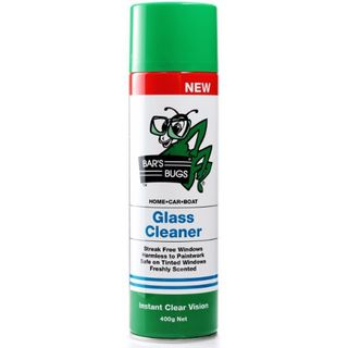 BARS BUGS GLASS CLEANER AEROSOL 400GM EA