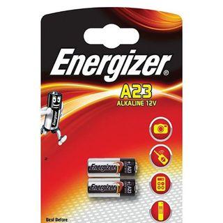 ENERGIZER BATTERY ALKALINE A23 12V BL/2