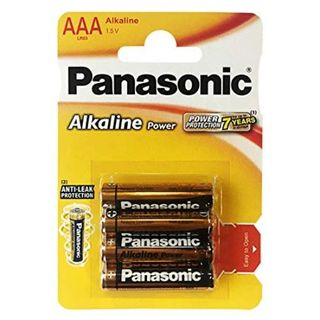 PANASONIC ALKALINE BATTERIES AAA BL/4