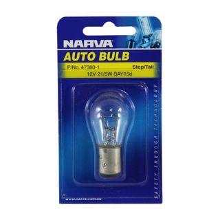 NARVA BULB 12V 21/5W BAY15d STOP/TAIL (47380) BL/1