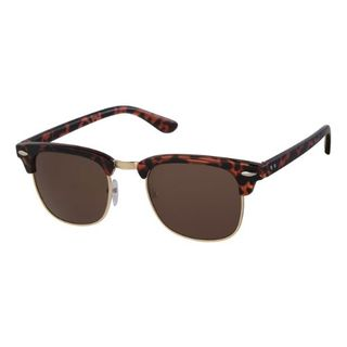 LEVEL ONE SUNGLASSES (#30130) CLUBMASTER BROWN FRAME BROWN LENS EA