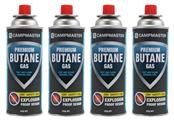 CAMPMASTER BUTANE CRV GAS CANISTER BAYONET 220GM PACK/4