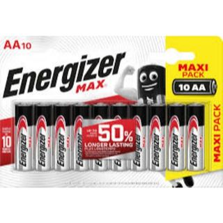 ENERGIZER MAX BATTERY AA BL/10 PROMO