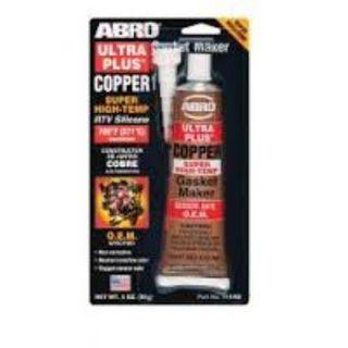 ABRO ULTRA PLUS RTV SILICONE GASKET MAKER COPPER 85G BL/1