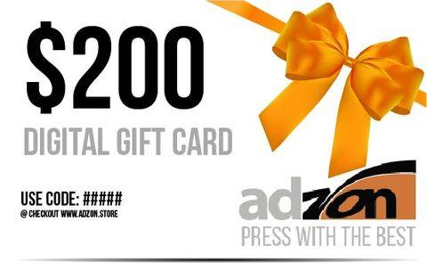 Digital Gift Card $200.00