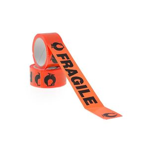 PP Black on Fluro Orange Fragile Tape 48mm x 66m