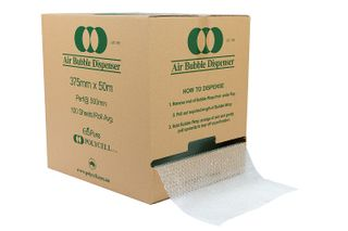 P10 Bubble Wrap 375mm x 50m Perforated 500mm in Dispenser Box